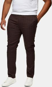 Big & Tall  Heritage Check Stretch Skinny Trousers