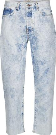 Blue Bleach Wash Original Fit Jeans