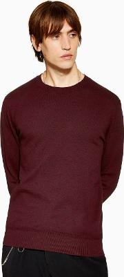 Burgundy Essential Jumper