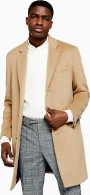 Camel Overcoat With Wool