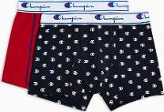 Champion Red And Navy Printed Trunks 2 Pack
