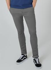 Charcoal Stretch Skinny Chinos