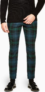 Check Skinny Trousers
