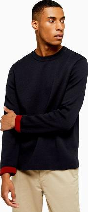 Double Faced Crew Neck Jumper
