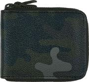Green Camouflage Zip Wallet