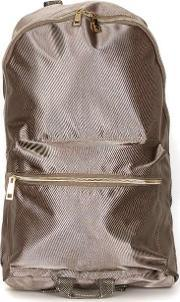 Mens Metallic Gold Nylon Backpack