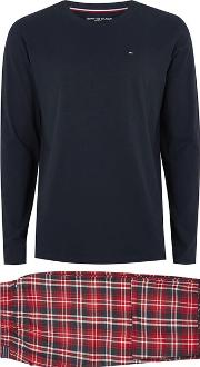 Mens Multi Tommy Hilfiger Check Pyjama Set