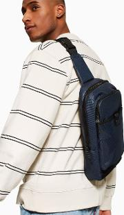 Navy And Blue Check Cross Body Bag