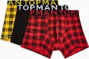 Red And Yellow Check Trunks 3 Pack