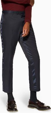 Side Stripe Skinny Cropped Trousers