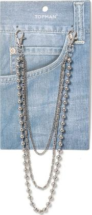 Silver Ball Wallet Chain