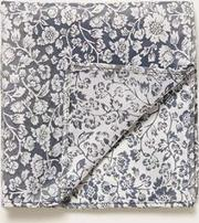 Stone Grey Floral Pocket Square
