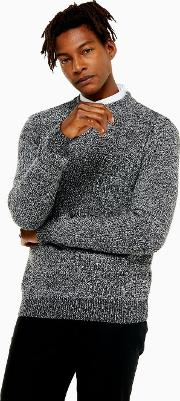 Textured Twisted Turtle Neck Jumper