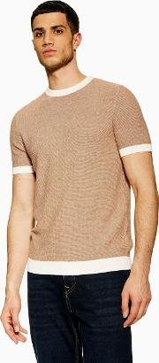 Toffee And White Twist Jumper