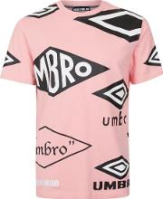 Mens Pink House Of Holland X Umbro Crew Neck T Shirt