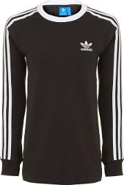 Womens 3 Stripe Long Sleeve T Shirt By Adidas Originals