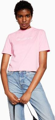Pink Small Logo Crop Top