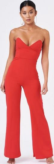 Bandeau Structured Jumpsuit