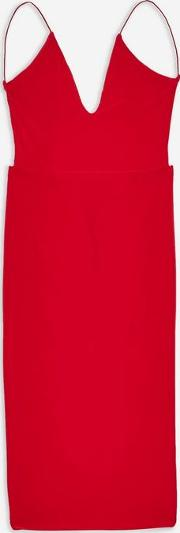 Red Ruched Midi Cami Dress