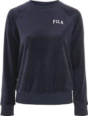 Womens Oversized Velour Sweater By Fila