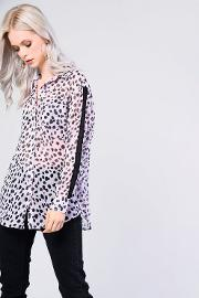 Dalmation Boyfriend Blouse