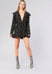 Ditsy Belted Playsuit