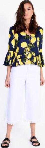 Lemon Printed Blouse