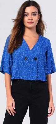 Pin Spot Blouse
