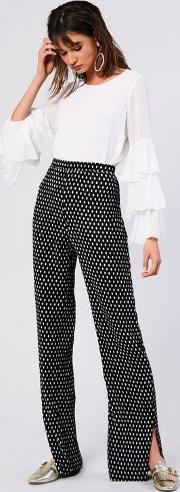 Spotted Plisse Trousers