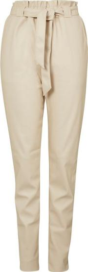 Womens Pu Belted Trousers By Glamorous Tall