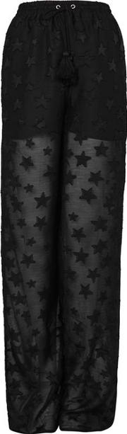Womens Wide Leg Star Trousers By Glamorous Tall
