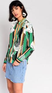 Tropical Palm Blouse