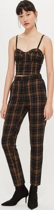 Brown Plaid Trousers