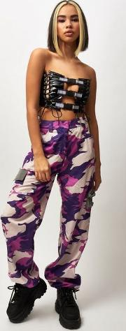Purple Camouflage Combat Trousers
