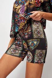 Stained Glass Cycling Shorts