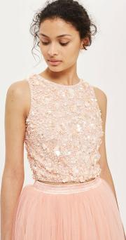 dc2bf63f29edc Hazel Embellished Crop Top. lace   beads. Hazel Embellished Crop Top