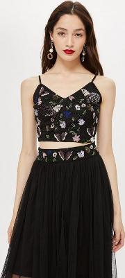2487dcb36685f Pollen Embellished Crop Top. lace   beads. Pollen Embellished Crop Top