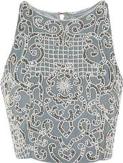 ef75e65094ffd Womens Penny Embellished Crop Top By. lace   beads