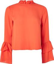 Womens Frill Neck Blouse By Love