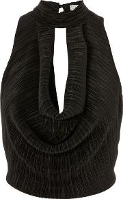 Womens Pleated Cowl Front Top By Love