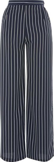 Womens Stripe Pallazo Trousers By Love