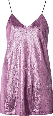 Womens Valley Sequin Mini Slip Dress By