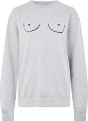 Womens 'boob' Graphic Sweatshirt By Never Fully Dressed