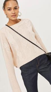 Womens Chunky Cable Knit Jumper By