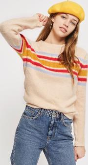 Womens Placement Stripe Jumper By