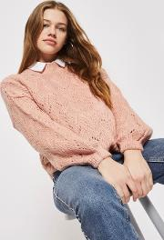 Womens Pointelle Stitch Jumper By
