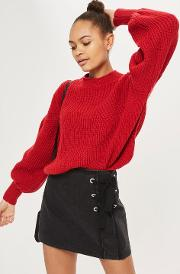 Womens Volume Sleeve Chunky Jumper By