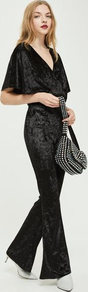 Velvet Flare Trousers By Oh My Love
