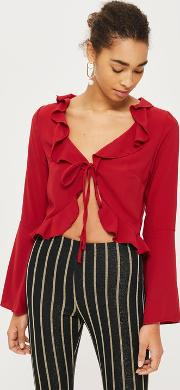 Womens Blouse With Frilled Edge