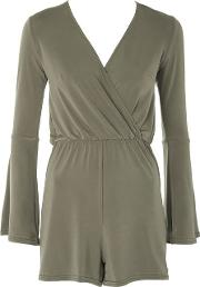 Womens Cross Over Playsuit By Oh My Love
